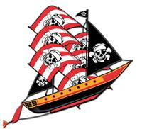 Giant Pirate Ship Kite 3-D 72 in.